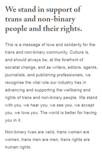 A Message from Members of the UK and Irish Publishing Community