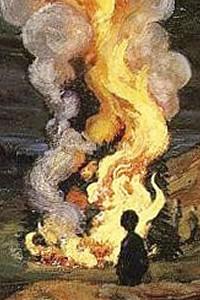 Nicolai Astrup, Bonfire celebrating Midsummer Night